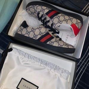 Kids Gucci GG Supreme Sneaker Size 33 (US 2)